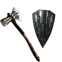Koniec gry młot thora Ax broń broń wojenna tarcza Thor grzmot młotek PLUTON figurka zabawkowa tanie tanio WILD FRUIT Cudgel hammer 73cm Diecast 6 lat Unisex