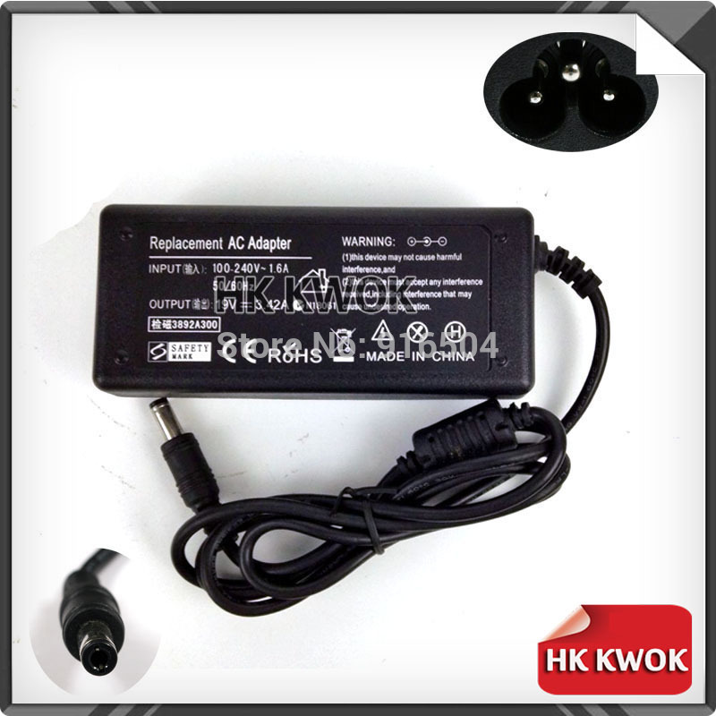 19V 3.42A 5.5mm*2.5mm 65W AC Power Adapter Laptop For toshiba R700 C600 L522 L515 A100 A105 Notebook Power Supply Charger