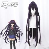 2019 new Japanese anime DATE A LIVE 3 Tokisaki Kurumi Wig Cosplay Yatogami Tohka Dark purple long hair Horsetail wig Cosplay