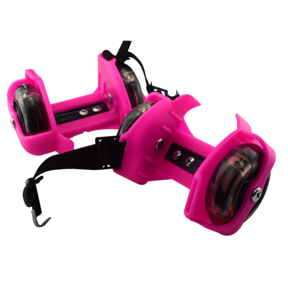 Colorful Flashing Roller Skating Shoes Whirlwind Pulley Flash Wheel Heel Adjustable Led Light Roller Skating Shoes For Girl Kids