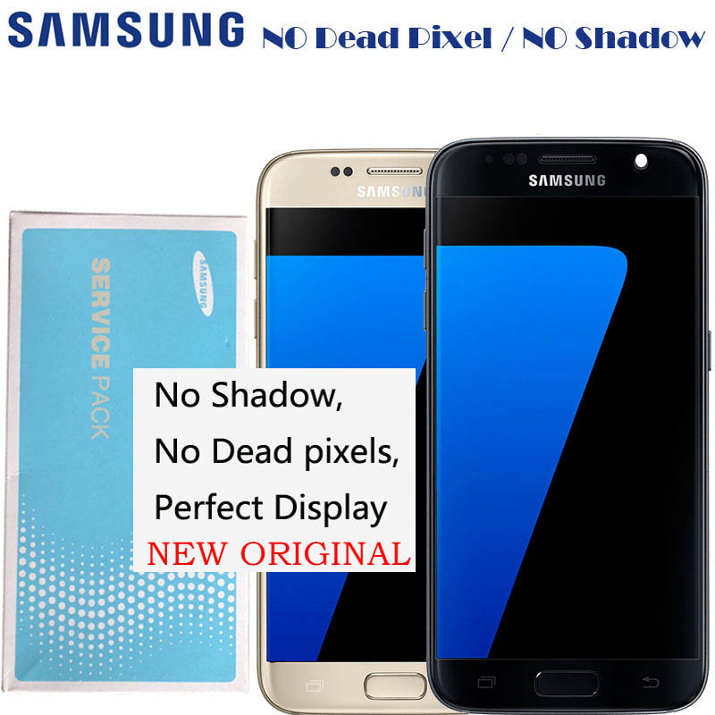 2560 1440 5 1 Original Amoled LCD Display With Frame Touch Screen Digitizer For Samsung Galaxy