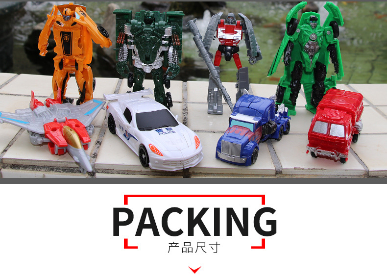 Figures Kids Transformation Robot Best-Gifts Plastic Mini Action-Toy 10cm-Arrival Cars