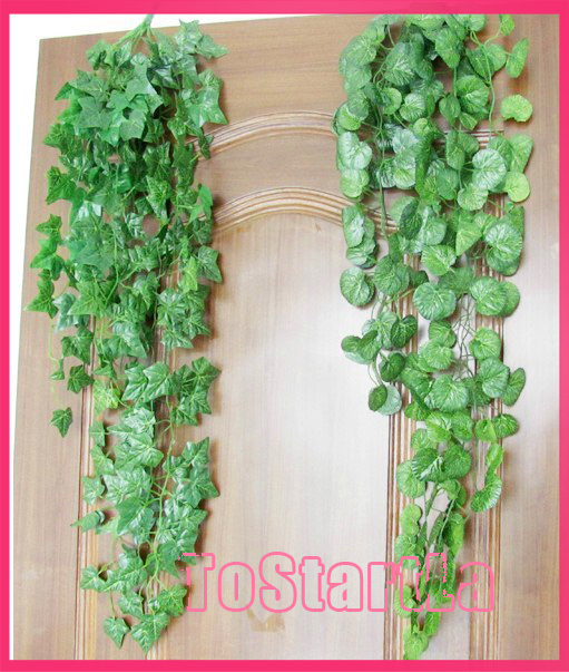 artificial green hanging /Begonia /watermelon /grapes /ivy /scindapsus vines for hotel decoration