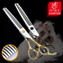 Fenice 6.5 inch Professional Pet Scissors Thinning Shears Japan High Quality Cat Dog Grooming Hair Cutting Tool Tijeras