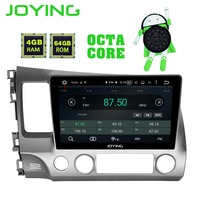 JOYING android 8.1 car autoradio radio gps stereo for Honda civic 2006 2011 with Carplay Android auto IPS DSP Octa Cores 4GB RAM