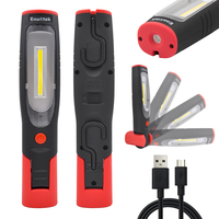 Rechargeable LED Work Light Portable Cordless LED Inspection Lamp Super Bright LED Torch Light Front 3W COB LED and Top 3W LED