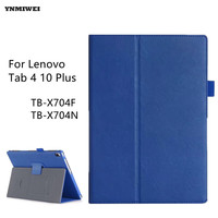 Tablet Case For Lenovo Tab4 10 Plus 10 1 PU Leather Stand Flip Cover For TAB