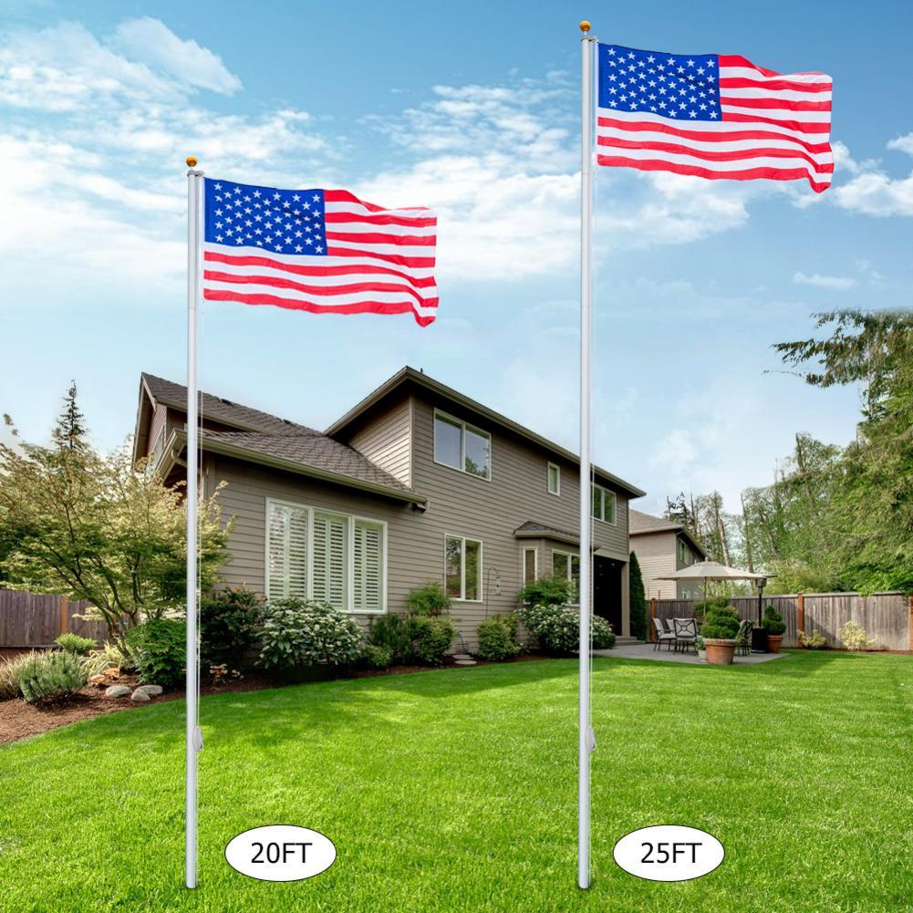 Kit de mástil de bandera de EE. UU. De 25 pies para el Día Nacional de la independencia Kit de alarma para cocina, DETECTOR de GAS por voz, alarma independiente para la UE, pantalla LCD Natural, SENSOR de fugas de GAS con alarma