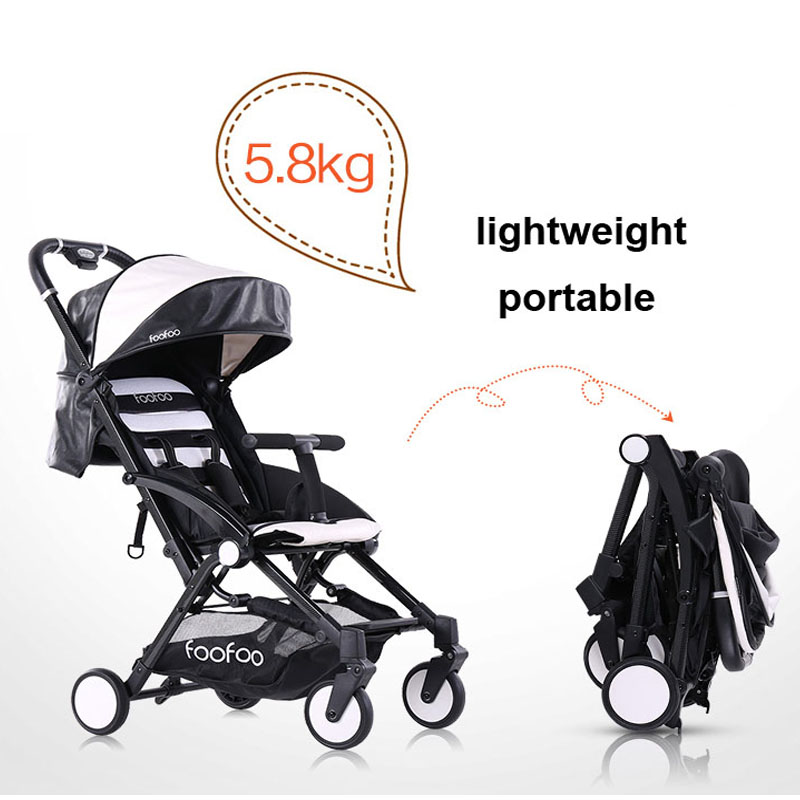 Fashion PU leather Poussette Baby Strollers Four Wheels Foldable Pushchair Lightweight Baby Carriage, Portable Pram & Buggies newborn strollers high lightweight pram dropshipping wholesale portable baby top stroller carriage strollers fashion pushchair