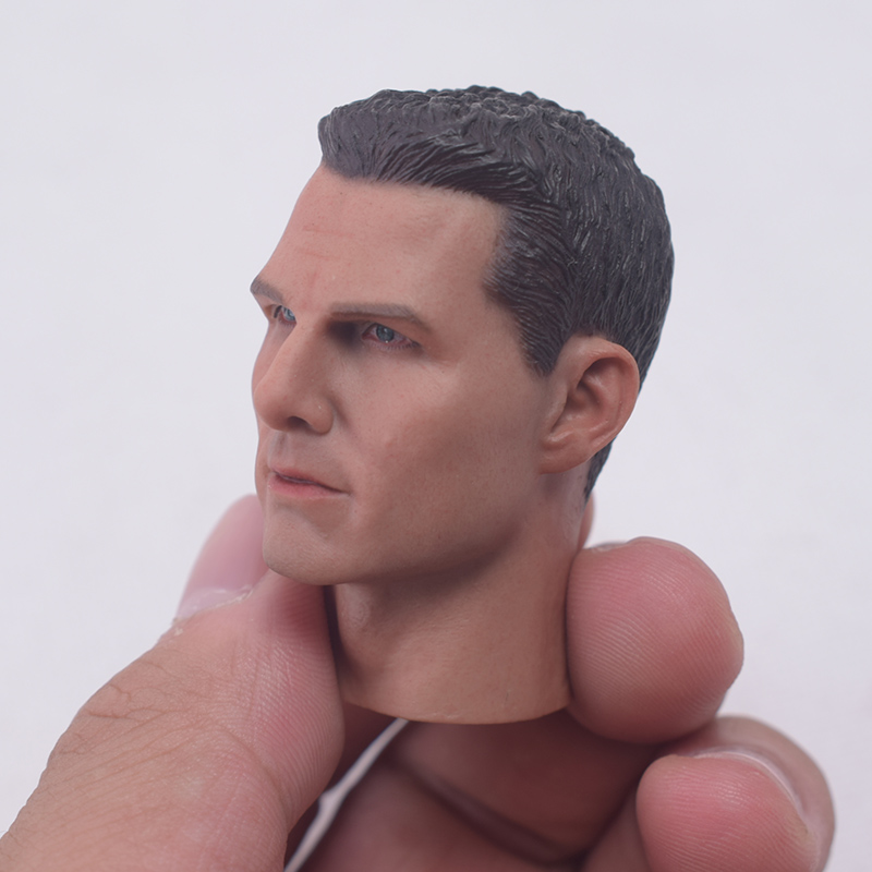1//6 Action Figure Male Head Sculpture Model Carved for 12inch Body Accessory