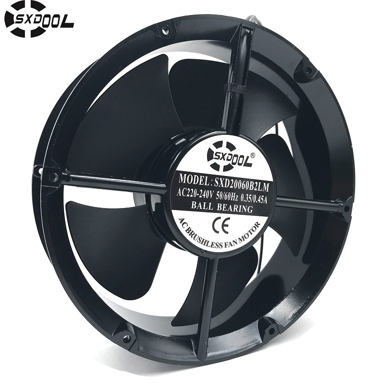 SXDOOL SXD20060B2LM Full Circle 220mm 22cm 220*220*60mm AC 220V 240V 50/60HZ 0.35A/0.45A axial cooling fan other voices full circle cd