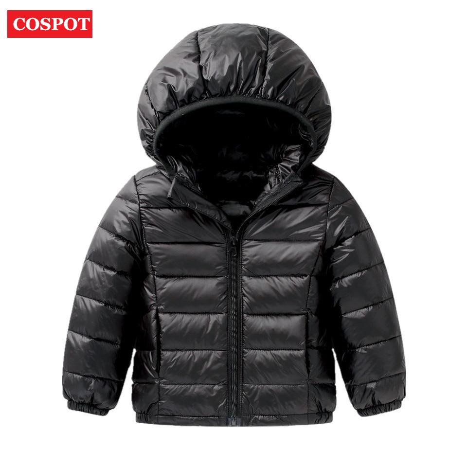 COSPOT Kids Winter White Duck Down Jacket  Baby Girls Boys Warm Light Down Coat Children Winter Hooded Coat Outwear 2017 New D34