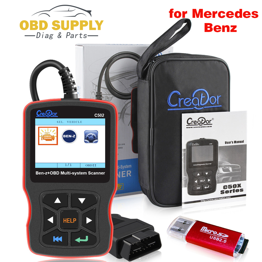 Creator C502 OBD2 Diagnostic Scanner Diagnostic Tools for Mercedes Benz W211 W203 W124 Auto OBD 2 Autoscanner Code Reader auto scanner code reader diagnostic tool for mercedes benz s