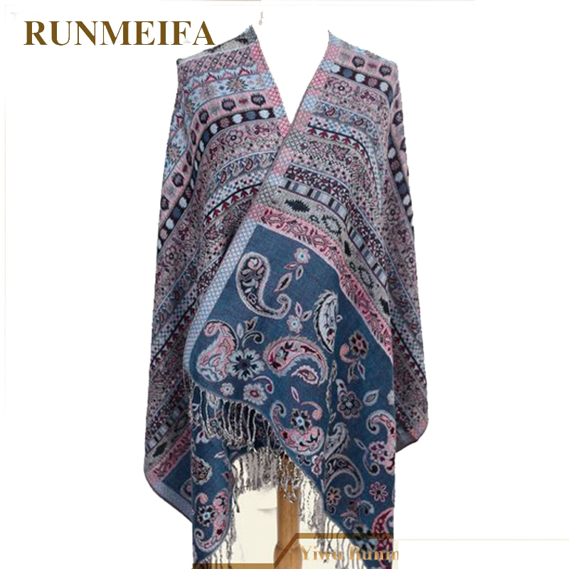 631ad49f88d Hot New Fashion Pashmina Cashmere Women's Scarves Paisley flower style  Stole Shawl Wrap summer winter spring Scarf for lady