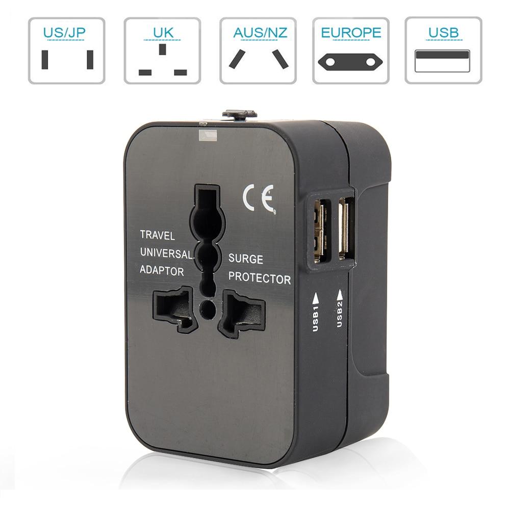 Electric Plug power Socket Adapter International travel adapter Universal Travel Socket USB Power Charger Converter EU UK US AU стоимость
