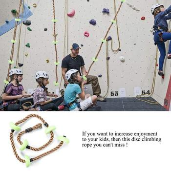 Cuerda de disco de escalada para niños, juguetes de juego de jardín para niños, cuerda de PP para columpio al aire libre, juegos de alta calidad para niños, equipo de juegos para patio de juegos