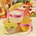 Bebê crianças Spill Proof da bacia crianças 360 Rotate pratos talheres lanche tigela recipiente de alimento alimentação crianças ajudar Food venda quente
