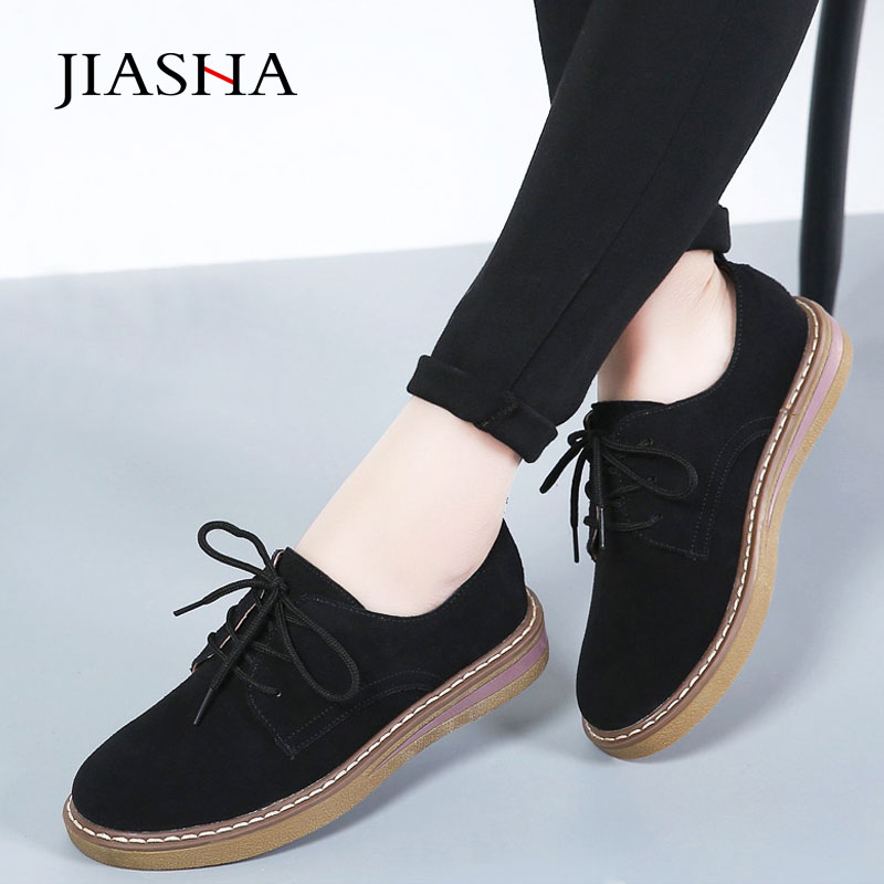 Flat shoes woman 2019 new suede loafers women shoes casual slip on platform shoes ladies breathable lace-up women sneakersFlat shoes woman 2019 new suede loafers women shoes casual slip on platform shoes ladies breathable lace-up women sneakers