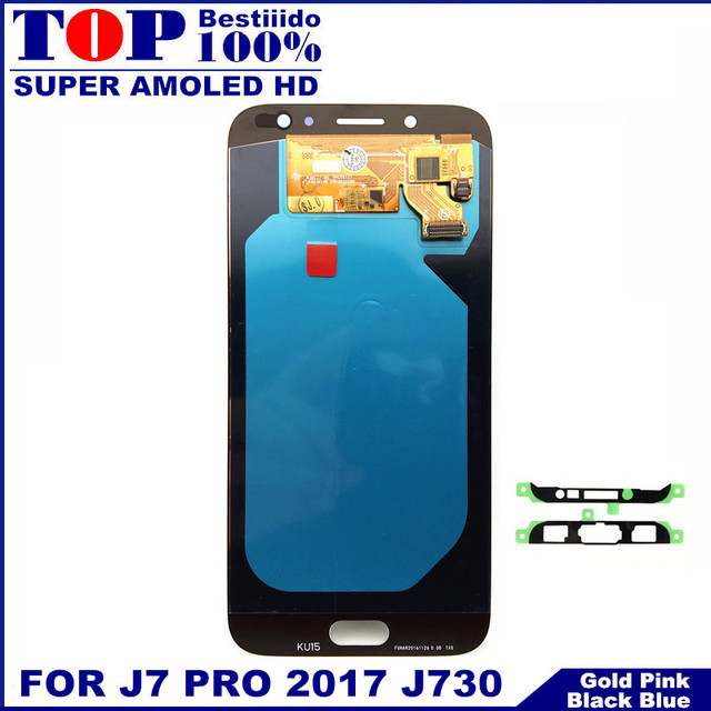 Con ajuste de brillo LCDs para Samsung Galaxy J7 Pro 2017 J730 J730F teléfono LCD pantalla táctil digitalizador reemplazo de pantalla