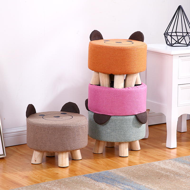 US $29.99 |Bear Small stool fashionable children\'s creative living room  sofa simple modern cartoon domestic bench hippo furniture-in Stools &  Ottomans ...