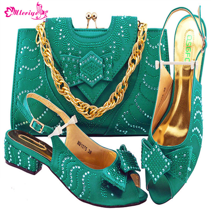 MM1075-TEAL Newest African Style shoes and bag sets Italian shoe with matching bag TOP selling shoes and bags to match doershow shoe and bag to match italian african shoe and bag sets women shoe and bag to match for parties african shoe htx1 18