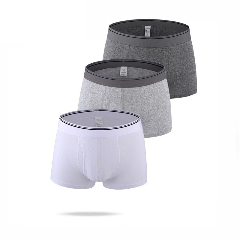 Cotton underwear men boxers hombre shorts man boxer pants waist white male U convex classic comfort man