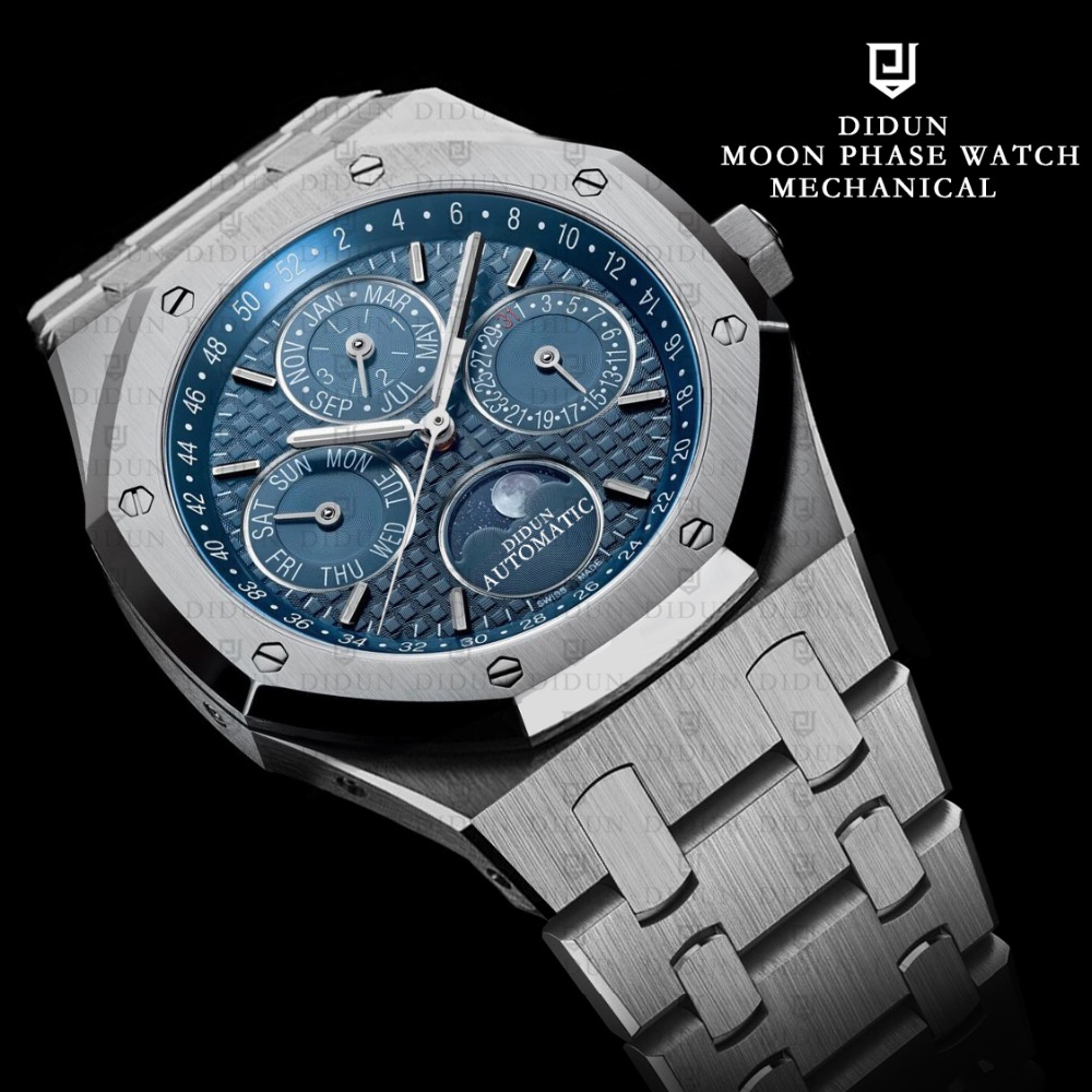 moon products brooklyn moonphase maen blue watches copy midnight