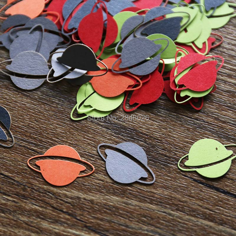 Planet confetti die cut baby shower bridal shower decor for Decor outer space