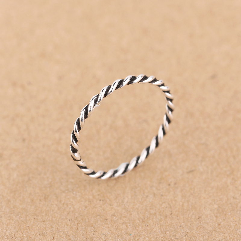 Vintage Style Thai 925 sterling Silver Ring Various Sizes European ...