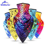 WildSurfer Triangle Scarf Printing Riding Half Face Mask Bike Windproof Balaclavas Breathable Bandanas Snowboard Scarves FJ41