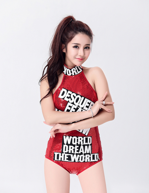 MOONIGHT sexy female singer students costume jumpsuit dance wear bar dj clothes stage costume women dancers singer stage show 3