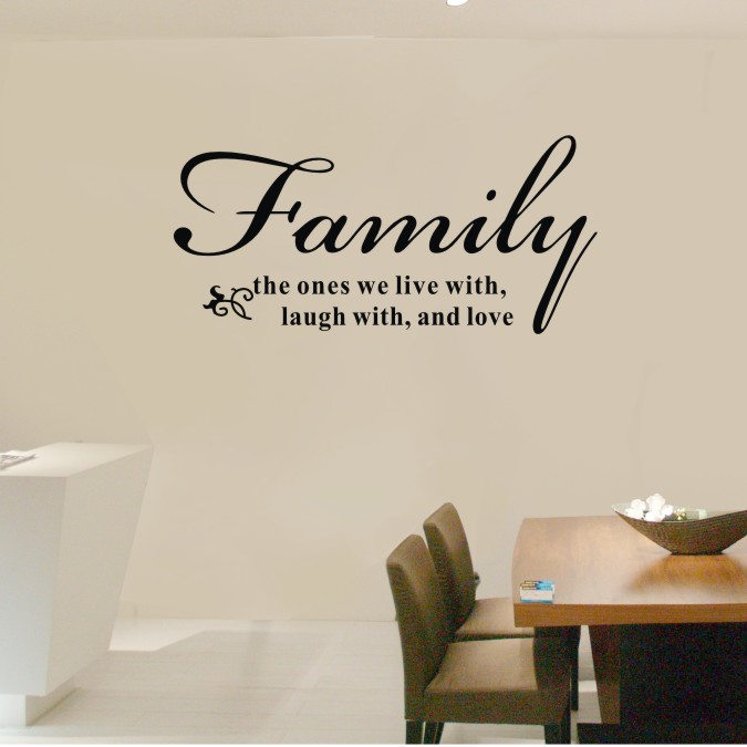 Buy 72x34cm family the ones we live laugh for Living room quote stickers