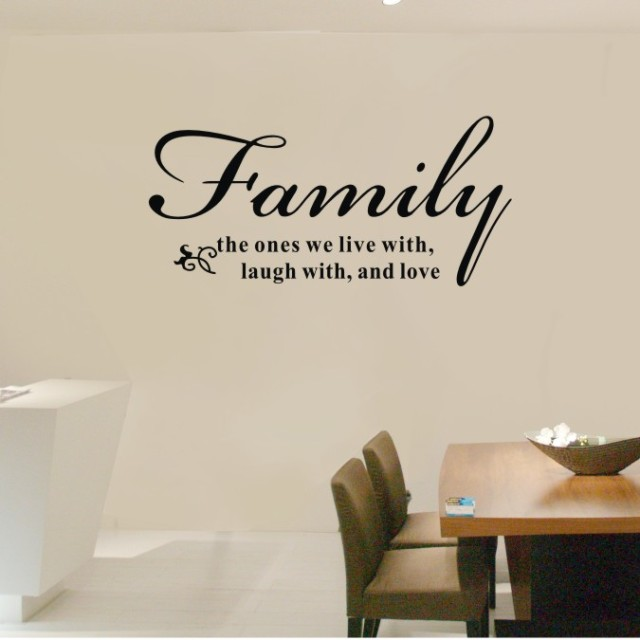 Buy 72x34cm family the ones we live laugh for Living room decor quotes