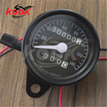 universal Motorcycle Accessorie motorbike Dual Odometer KMH Speedometer Gauge night light Backlight motocross Tachometer black