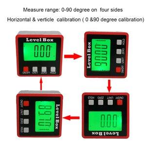 Image 5 - Digitale hoekzoeker Gradenboog elektronische level box 360 Graden digitale inclinometer hoek meten met magneten Draagbare