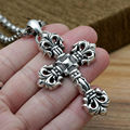 2016 Hot Sale Brand Flame cross pendant 100% real 925 sterling silver necklace pendant for women or men gift fine jewelry GP19