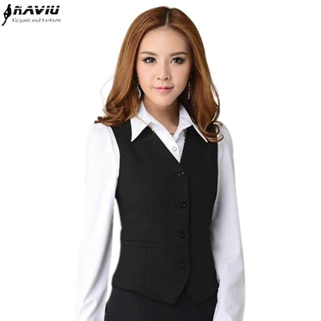 Work Wear Suit Vest Women Clothing Waistcoats Spring Autumn Summer