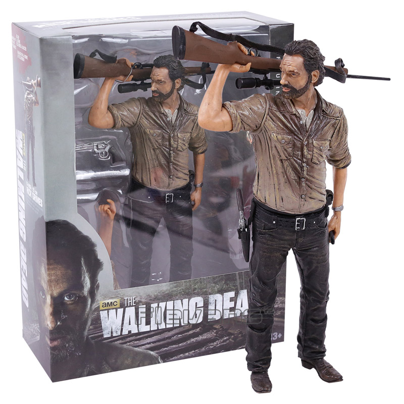 The Walking Dead Rick Grimes Deluxe PVC Action Figure Collectible Model Toy 10inch 25cm neca the evil dead ash vs evil dead ash williams eligos pvc action figure collectible model toy 18cm kt3427