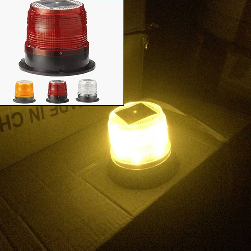 LED Solar Warning Light / car burst flash warning lights / traffic and road safety warning lights Marine Safety Beacon Light