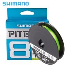 цена на 100% Original SHIMANO 150m 8 Strands Braided Fishing Line 0.6# 0.8# 1.0# 1.2# 1.5# 2.0# Green PE Fishing Line Made in Japan