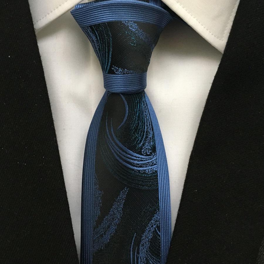 Lazo flaco casual del diseñador Corbatas tejidas de jacquard de alta - Accesorios para la ropa - foto 3