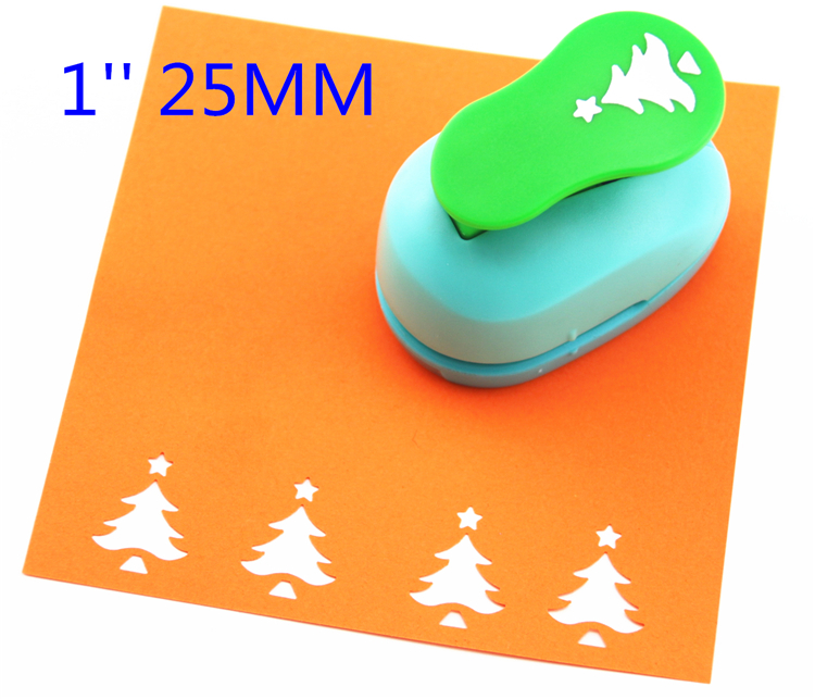 Free Ship 1'' Christmas Tree Paper Cutter Scrapbooking Punches Paper Punch Eva Foam Punch Child Diy Craft Punch ScrapbookS293715