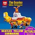 Lepin 21012 553 Unids IDEAS Serie El Beatles Yellow Submarine Set 21306 Bloques de Construcción Ladrillos Niños Juguetes Educativos Regalos