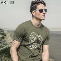 AK CLUB Men T Shirt Peace Heart Shape Letter Print T Shirt 100 Cotton Tshirt Men