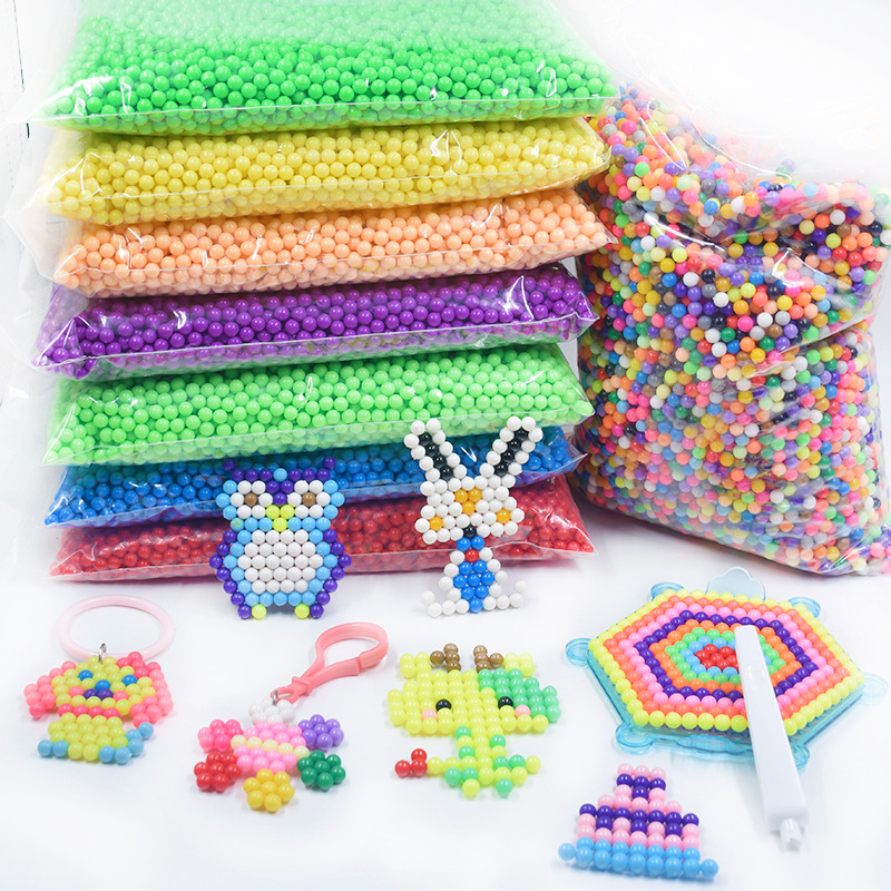 500g 36 Colors Crystal DIY Beads Water Spray Magic Hand Making 3D Puzzle Educational Toys For Children Kit Ball Game