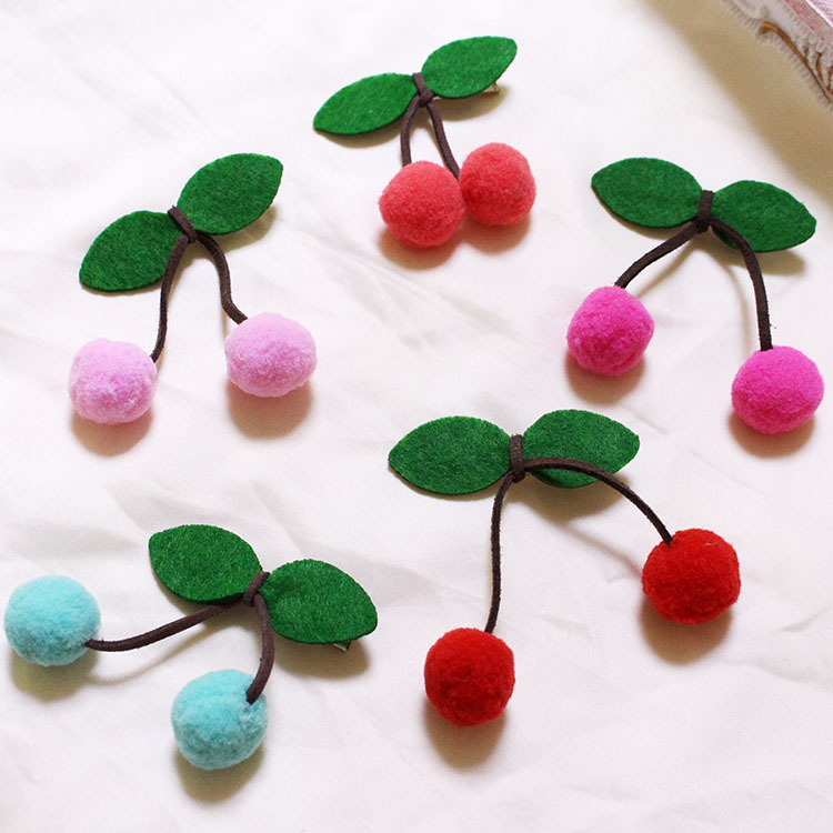 Lovely Cherry Shaped Bowknot Hairpins Leaf Hair Clip Colorful Ball Twist Barrette Hair Accessories For Women Lady Girl Headwear 1x solid leaf shape metal hairpins hair clips for women hair accessories hairclips barrette hair cutting clip headwear headdress