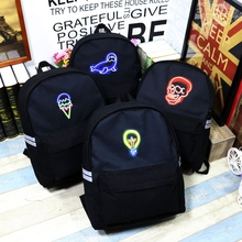 Мода 2016 года женственный мужской Прохладный Школьный для подростков Обувь для девочек Мальчик Популярные компьютер, ноутбук рюкзак женский Для Мужчин Светящиеся Bagpack