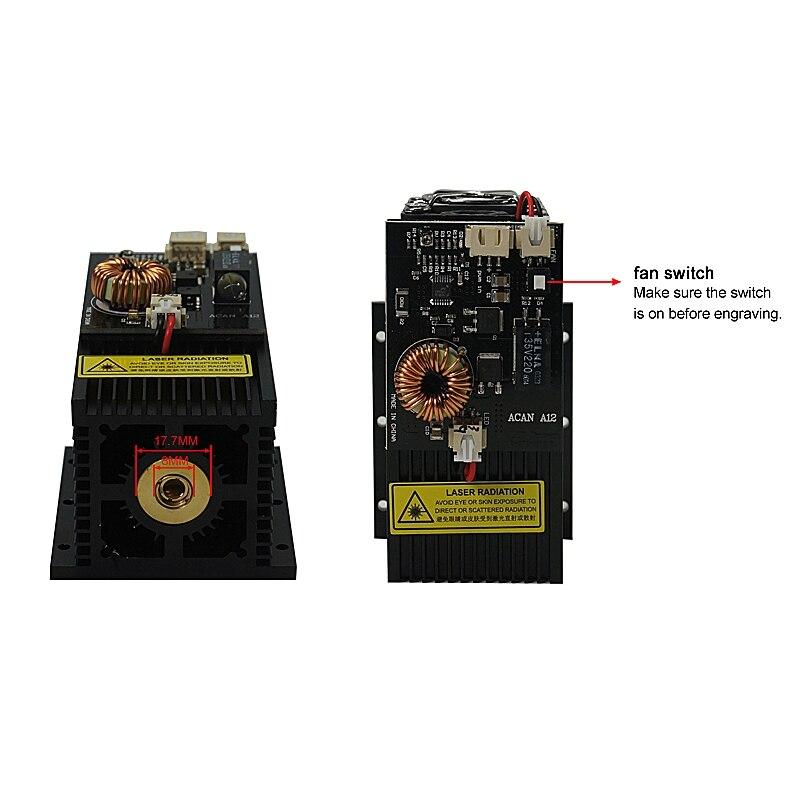 High Power 7W 10W 15W DIY Desktop Laser Machine Head Module 450NM Laser Tube Engraving Machine Cutter Tools For Marking