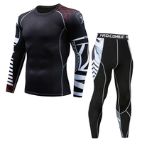2018 Newest Brand Fitness Compression Sets T Shirt Men 3D Printed MMA Crossfit Muscle Shirt Leggings