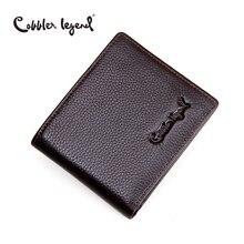 Cobbler Legend Brand Designer 2016 Real Leather Slim Men's Wallet Cow Leather Men Bifold Clutch Wallets Male Fashion Coin Purses
